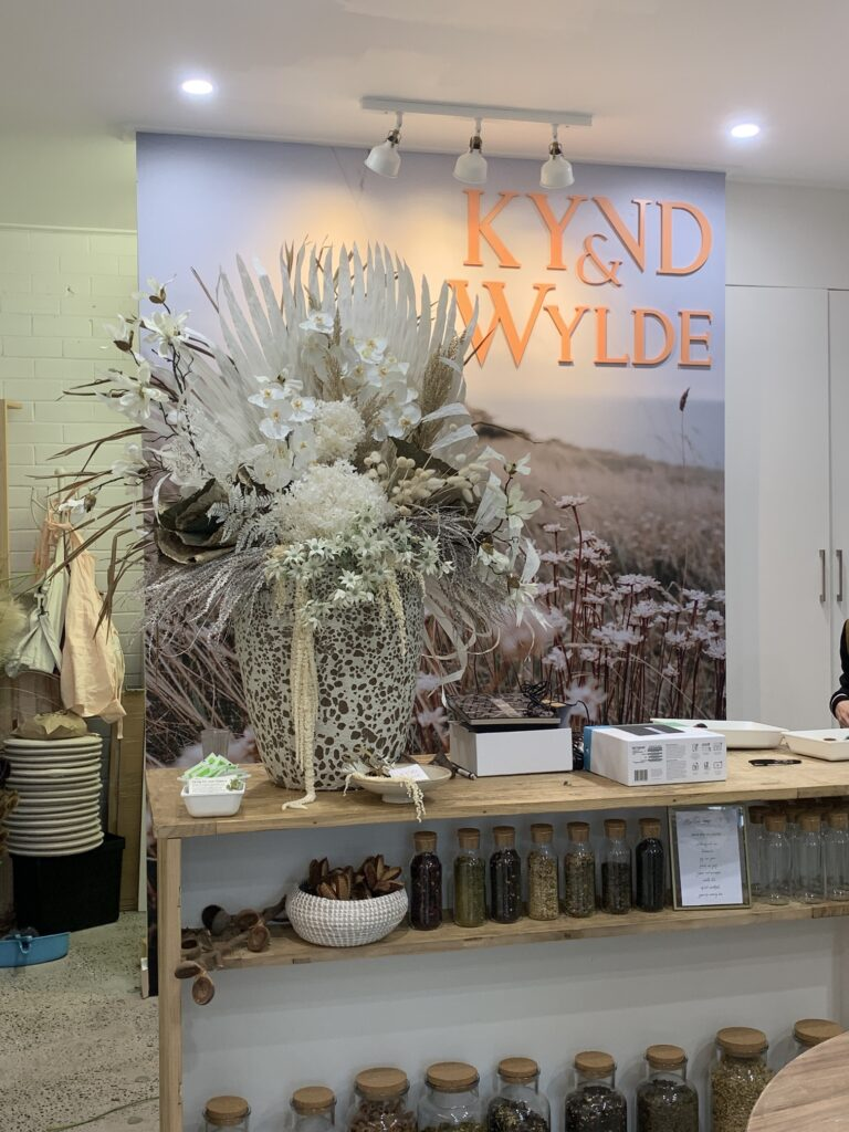 retail signage for kynd & wylde